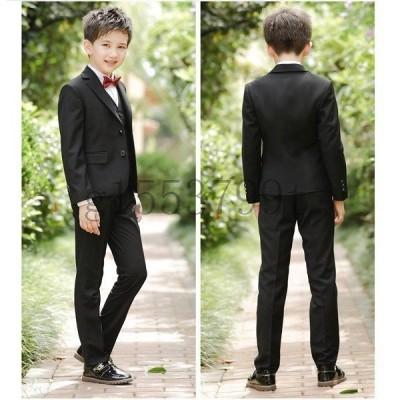 子供服5点セットフォーマルスーツ男の子長袖スーツ上下セットアップ人気可愛いジュニア服演奏会発表会披露宴結婚式