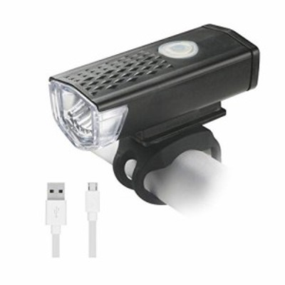 自転車ライト A-leaf LEDヘッドライトIP65防水防塵 300ルーメン USB充電式 800mah 小型懐中電灯 防振防災 3段階調節可能 取り付け簡単 ス