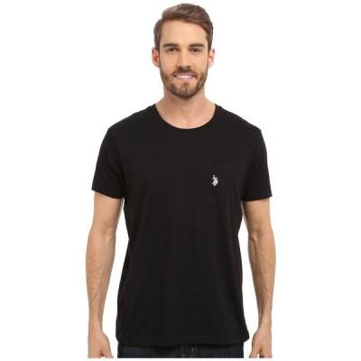 ユーエスポロアッスン U.S. POLO ASSN. メンズ Tシャツ ポケット トップス Solid Crew Neck Pocket T-Shirt Black