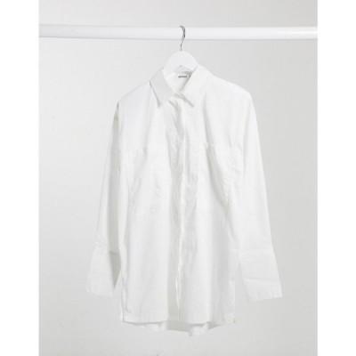 ミスガイデッド Missguided レディース ブラウス・シャツ トップス Oversized Poplin Shirt In White ホワイト