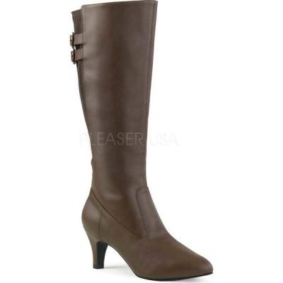 プリーザーピンクレーベル レディース ブーツ&レインブーツ シューズ Divine 2018 Boot Brown Faux Leather