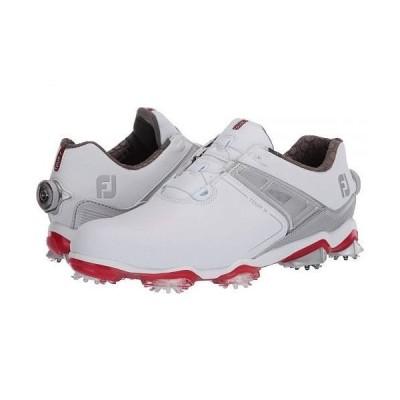 FootJoy フットジョイ メンズ 男性用 シューズ 靴 スニーカー 運動靴 Tour X - White/Grey/Red Trim