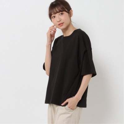コットンドロップワイドTシャツ ブラック M L XL