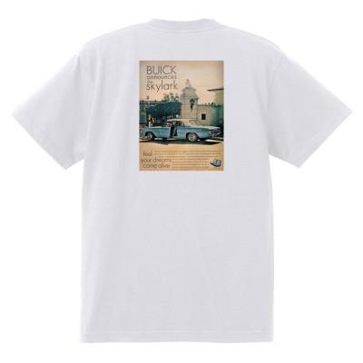 アドバタイジング ビュイック 白244 Tシャツ 1961 ルセーブルワイルドキャット スカイラーク