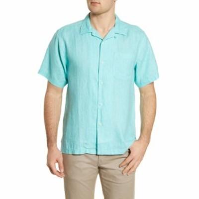 トミー バハマ TOMMY BAHAMA メンズ 半袖シャツ トップス Sea Glass Short Sleeve Button-Up Linen Camp Shirt Lawn Chair