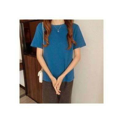 ゾエ ジェンコ Zoe Jenko ベーシック シンプルTシャツ 8403 (BLU)