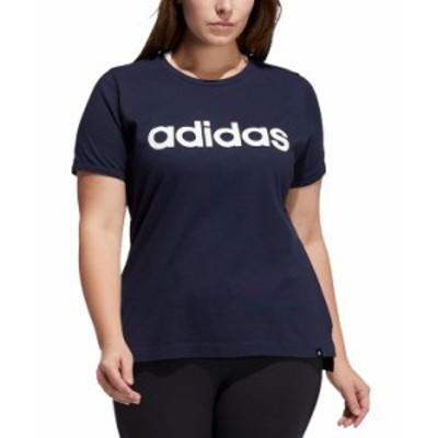 アディダス レディース シャツ トップス Plus Size Logo T-Shirt Legend Ink/White
