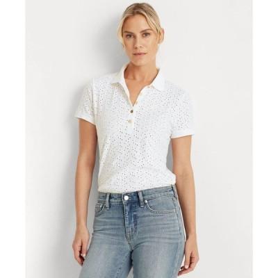 ラルフローレン レディース シャツ トップス Embroidered Polo Shirt