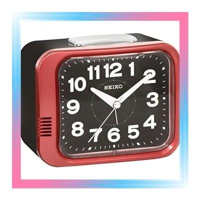赤 セイコー クロック 目覚まし時計 アナログ 赤 メタリック KR8