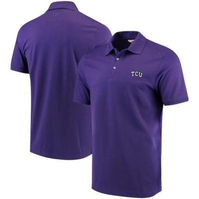 ユニセックス スポーツリーグ アメリカ大学スポーツ TCU Horned Frogs Cutter & Buck Collegiate Advantage DryTec Polo - Purple
