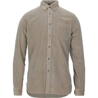 ザカス XACUS メンズ シャツ トップス Solid Color Shirt Sand