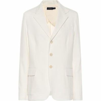 ラルフ ローレン Polo Ralph Lauren レディース スーツ・ジャケット アウター Cotton-blend blazer nevis white