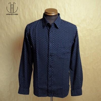 JAPAN BLUE JEANS ジャパン ブルー ジーンズ しじら織り 刺し子シャツ J352932