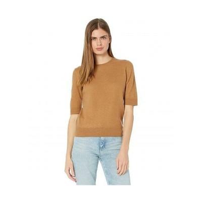 Vince ヴィンス レディース 女性用 ファッション セーター Short Sleeve Pullover - Amber