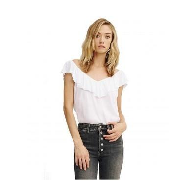 LAmade エルエーメイド レディース 女性用 ファッション ブラウス Posh Ruffle Tank - White
