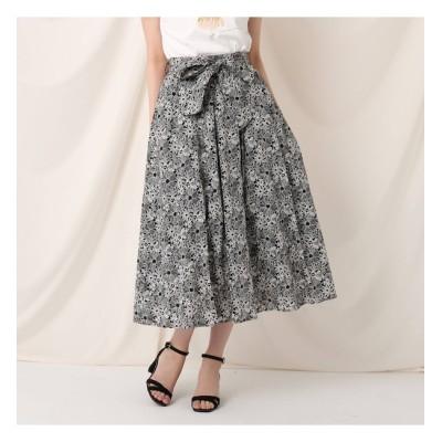 【クチュール ブローチ/Couture brooch】 ツートンフルールミモレスカート