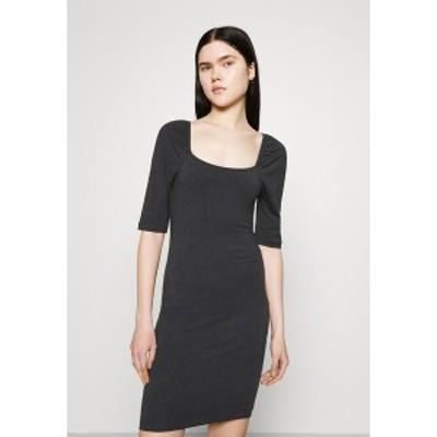ヴェロモーダ レディース ワンピース トップス VMGLORIA SHORT DRESS - Jersey dress - dark grey melange dark grey melange