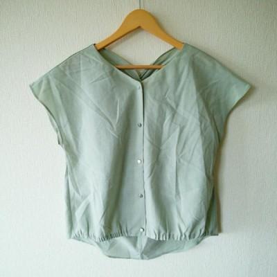chocol raffine robe ショコラ フィネ ローブ 半袖 シャツ、ブラウス Shirt, Blouse ボタンブラウス 10006314