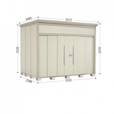 物置 屋外 おしゃれ タクボ物置 JN/トールマン JN-3222 一般型 標準屋根 『追加金額で工事可能』 ムーンホワイト