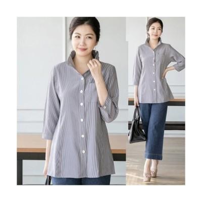 ブラウス レディース 50代 60代 ファッション 女性 上品 シャツ 7分袖 きれいめ 通勤 春夏 ミセス 大きいサイズ