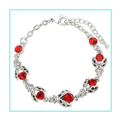 【新品】Liavy's Ladybug Fashionable Chain Bracelet - Sparkling Crystal - Lobster Clasp - Unique Gift and Souvenir(並行輸入品)