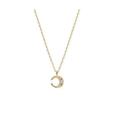 VAヴァンドーム青山 イエローゴールド ネックレス GJVN046240DI K10 ダイヤモンド ムーンネックレス