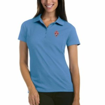 Antigua アンティグア スポーツ用品  Antigua Colorado Rapids Womens Blue Pique Desert Dry Xtra-Lite Polo