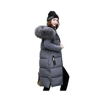 EASONDDD ダウンコート レディース ダウンジャケット 中綿コート 冬 アウター ファー フード ロング コート 着痩せ 無地 厚手 冬服 防寒