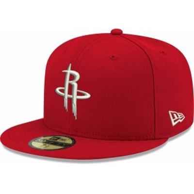 ニューエラ メンズ 帽子 アクセサリー New Era Men's Houston Rockets 59Fifty Red Fitted Hat -