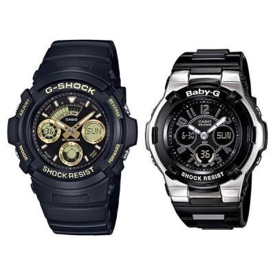 【海外モデル】カシオ G-SHOCK×BABY-G Gショック×ベビーG ペアウォッチ アナデジ 多機能 ブラック AW-591GBX-1A9BGA-110-1B2 あすつく 腕時計