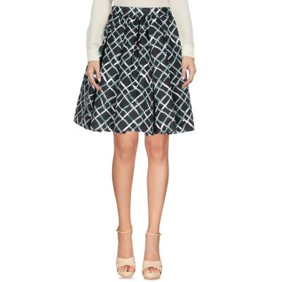 エムエスジーエム MSGM ひざ丈スカート ブラック 40 コットン 87% / 麻 13% ひざ丈スカート