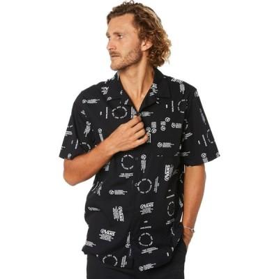 ヴァンズ Vans メンズ 半袖シャツ トップス aldrich ss shirt Black distortion