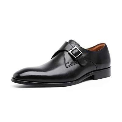 [フォクスセンス] ビジネスシューズ 本革 革靴 紳士靴 メンズ ドレスシューズ 本革 モンクストラップ ブラック 26.0cm 892703-01