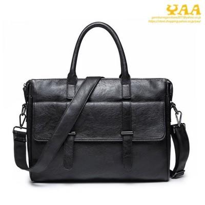 ビジネスバッグ メンズ 2WAY バッグ ショルダーバッグ PUレザー ブリーフケース カバン 鞄 ノートPCポケット 大容量 A4 通勤