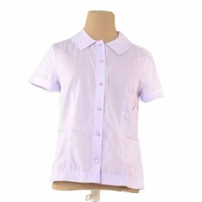 マークジェイコブス シャツ ステッチ衿 半袖 ♯4サイズ 透かしストライプ ライトパープル MARC JACOBS 中古 T794