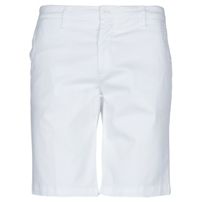 LIU •JO MAN バミューダパンツ ホワイト 42 コットン 97% / ポリウレタン 3% バミューダパンツ