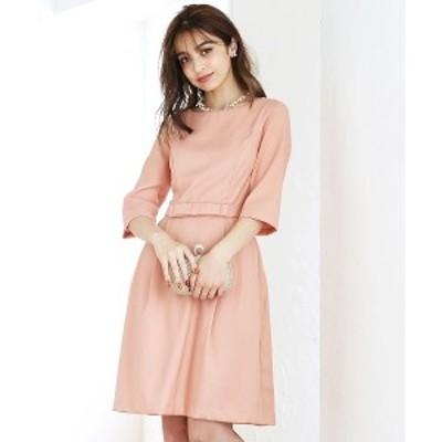 クリーム(C.R.E.A.M)/ワンピース ドレス[パーティードレス 結婚式 お呼ばれ スカート フォーマル 袖あり]