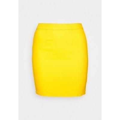 ミスガイデッド スカート レディース ボトムス ZIP UP SKIRT - Denim skirt - yellow