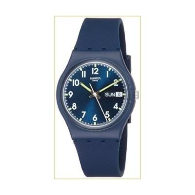 スウォッチ 腕時計 Swatch Originals Swiss-Quartz Silicone Strap, Blue, 19 Casual Watch (Model: GN718) 並行輸入品