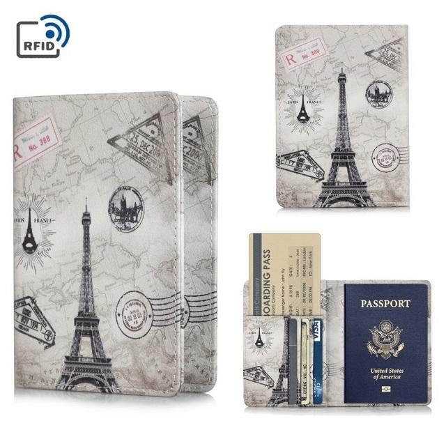 RFID護照夾 卡片證件夾   鐵塔