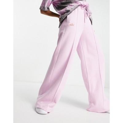 ナイキ Nike レディース ジョガーパンツ ボトムス・パンツ high waist wide leg fleece joggers in arctic pink ライラック