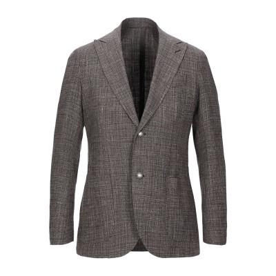 イレブンティ ELEVENTY テーラードジャケット ブラウン 52 ウール 46% / コットン 43% / リネン 11% テーラードジャケット