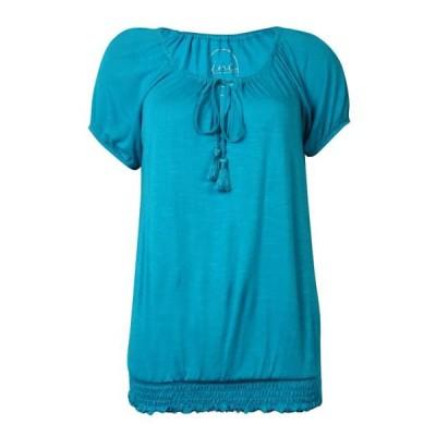 レディース 衣類 トップス INC International Concepts Women's Keyhole Slub Peasant Top ブラウス&シャツ