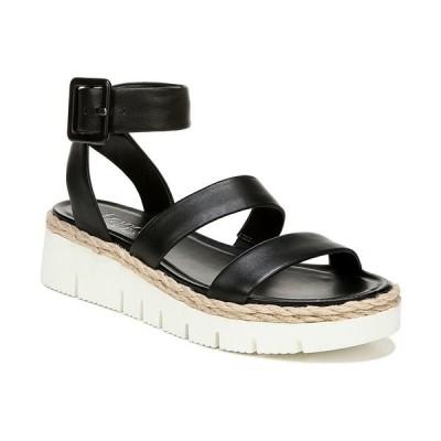 フランコサルト サンダル シューズ レディース Jackson Sport Sandals Black Leather