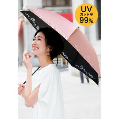 折りたたみ日傘(マーガレット刺しゅう)