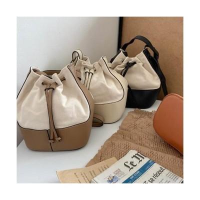 MINIBBONG レディース ショルダーバッグ Fabric mix tote & shoulder bag