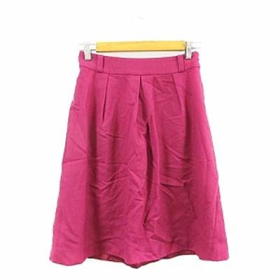 【中古】ヒューマンウーマン HUMAN WOMAN スカート フレア ひざ丈 タック 1 ピンク /AAM8 レディース