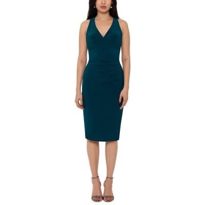 エスケープ ワンピース トップス レディース V-Neck Bodycon Dress Emerald