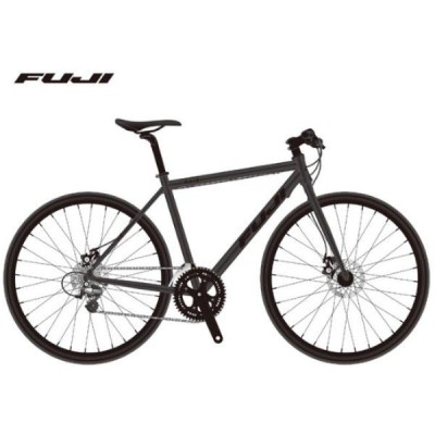 (選べる特典付き!)クロスバイク 2021 FUJI フジ RAIZ DISC ライズ ディスク マットブラック 16段変速 油圧ディスクブレーキ 700C アルミ