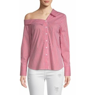 リー&ヴィオラ レディース トップス シャツ One-Shoulder Stripe Shirt
